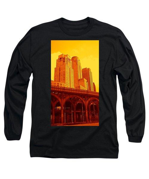 Upper West Side And Hudson River Manhattan Long Sleeve T-Shirt