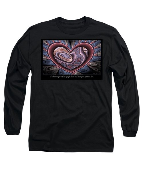 Upright Heart Long Sleeve T-Shirt