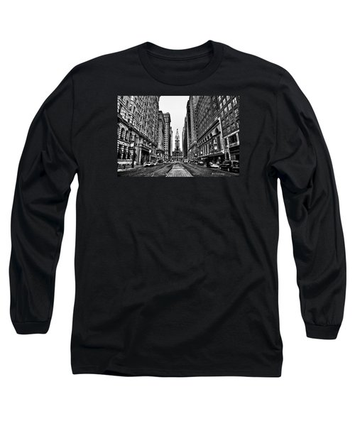 Long Sleeve T-Shirt featuring the photograph Urban Canyon - Philadelphia City Hall by Bill Cannon