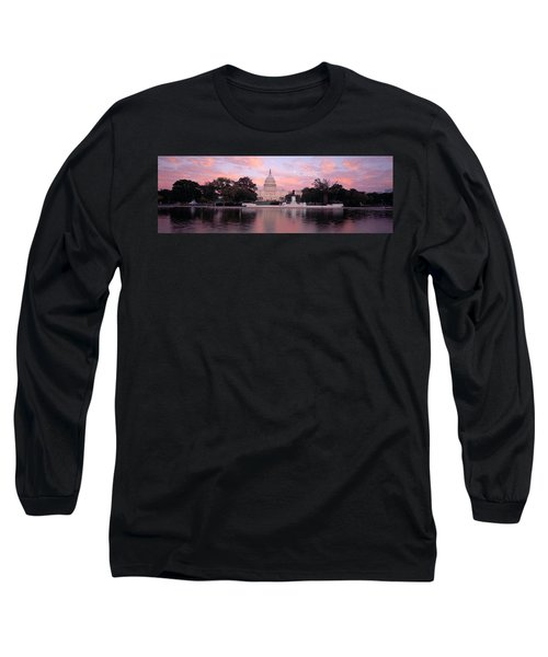 Us Capitol Washington Dc Long Sleeve T-Shirt by Panoramic Images
