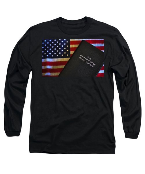 United States Constitution And Flag Long Sleeve T-Shirt