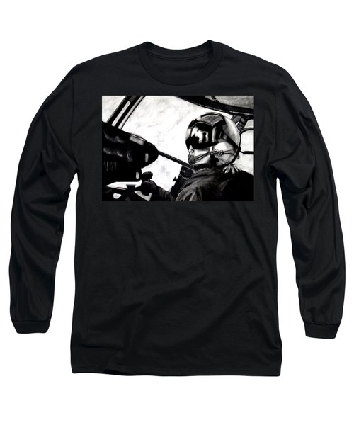 U.s. Marines Helicopter Pilot Long Sleeve T-Shirt