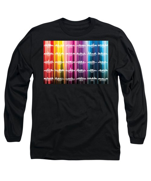 Usa Skylines 2 Long Sleeve T-Shirt