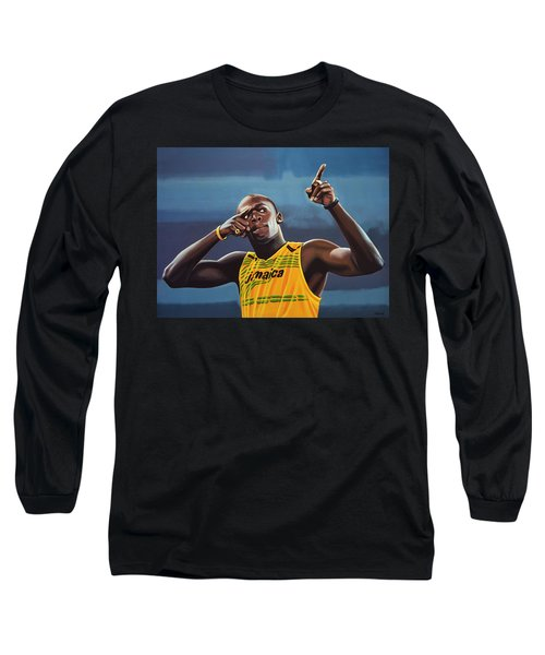 Usain Bolt Painting Long Sleeve T-Shirt