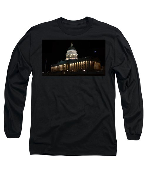 Long Sleeve T-Shirt featuring the photograph Utah State Capitol East by David Andersen
