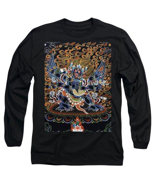 Vajrakilaya Dorje Phurba Long Sleeve T-Shirt by Sergey Noskov