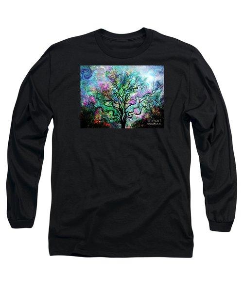 Van Gogh's Aurora Borealis Long Sleeve T-Shirt
