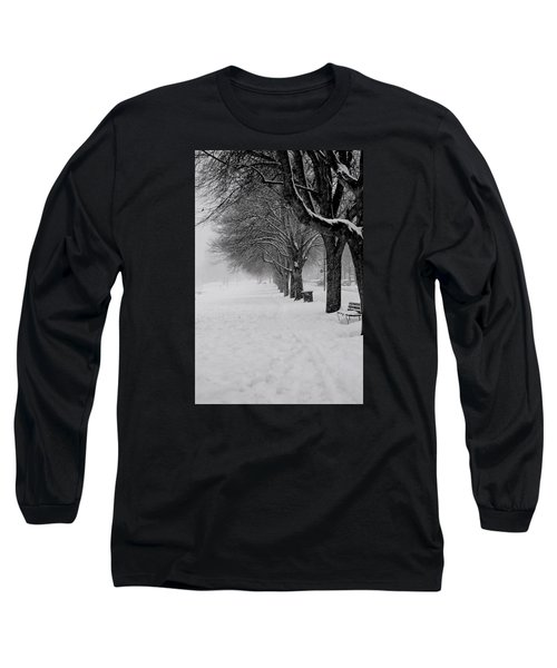 Vancouver Winter Trees Long Sleeve T-Shirt
