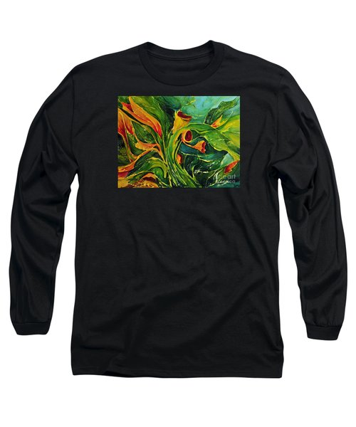 Long Sleeve T-Shirt featuring the painting Variation  No.2 by Teresa Wegrzyn