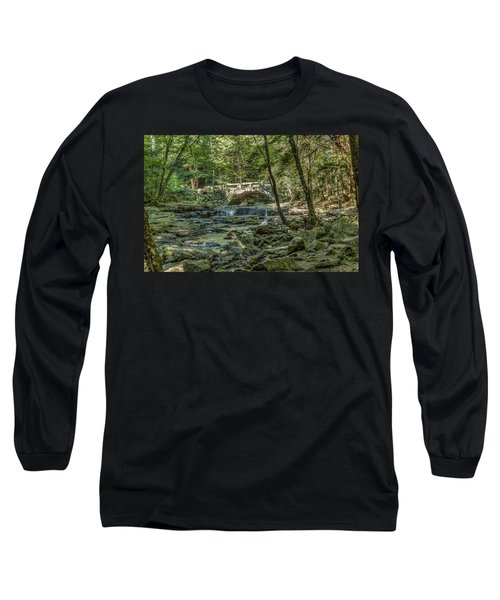 Long Sleeve T-Shirt featuring the photograph Vaughan Woods Bridge by Jane Luxton
