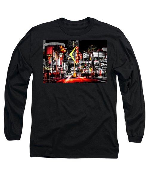 Vegas Nights Long Sleeve T-Shirt by Az Jackson