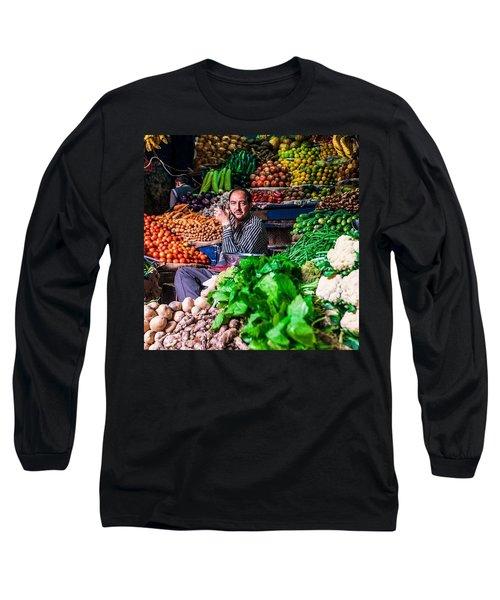 Vegetable Seller, Manali, India Long Sleeve T-Shirt