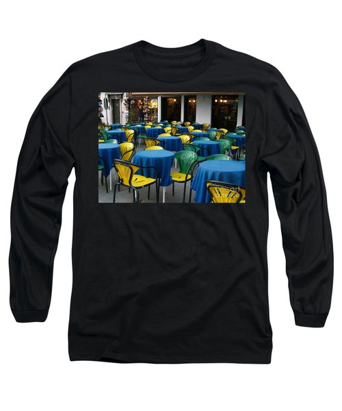 Venetian Cafe Long Sleeve T-Shirt by Robin Maria Pedrero
