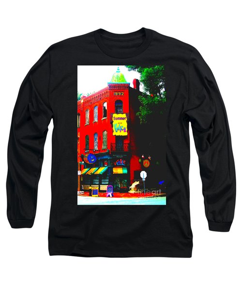 Venice Cafe' Painted And Edited Long Sleeve T-Shirt