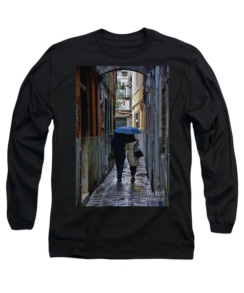 Venice In The Rain Long Sleeve T-Shirt