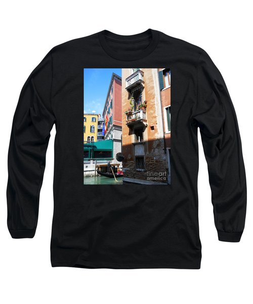 Long Sleeve T-Shirt featuring the photograph Venice Series 6 by Ramona Matei
