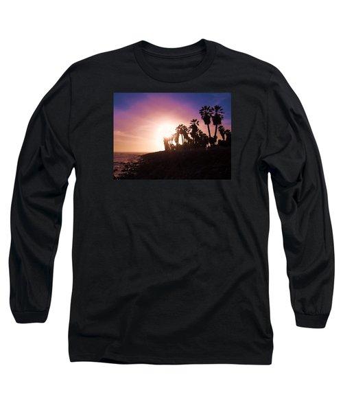 Long Sleeve T-Shirt featuring the photograph Ventura Beach Sunset by Mary Ellen Frazee