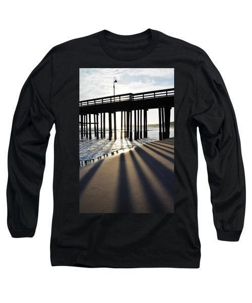 Long Sleeve T-Shirt featuring the photograph Ventura Pier Shadows by Kyle Hanson
