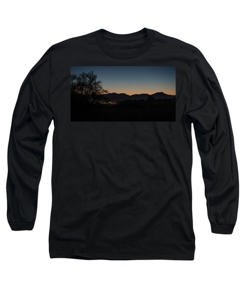 Long Sleeve T-Shirt featuring the photograph Venus And A Young Moon Over Tucson by Dan McManus