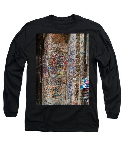Verona Italy Locks Of Love Long Sleeve T-Shirt by Robin Maria Pedrero