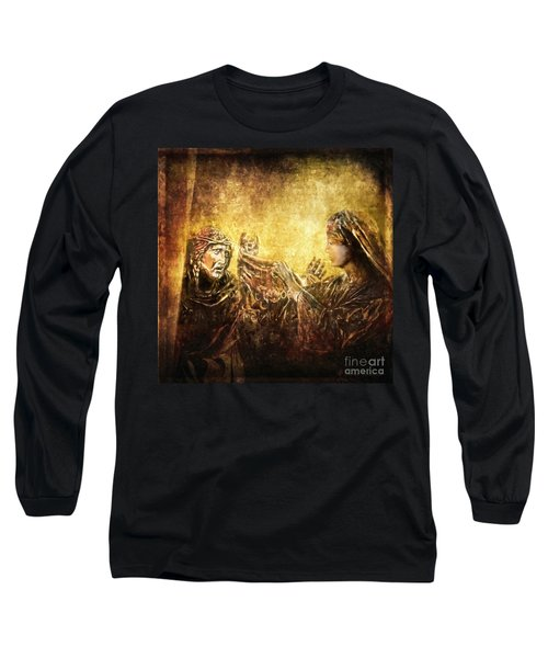 Veronica Wipes His Face Via Dolorosa 6 Long Sleeve T-Shirt by Lianne Schneider