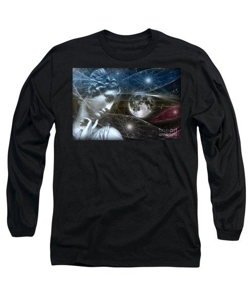 Long Sleeve T-Shirt featuring the digital art Vestal Moon by Rosa Cobos