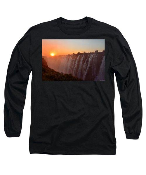 Victoria Falls At Sunset Long Sleeve T-Shirt