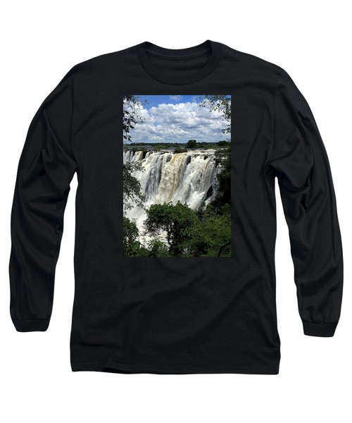 Victoria Falls On The Zambezi River Long Sleeve T-Shirt