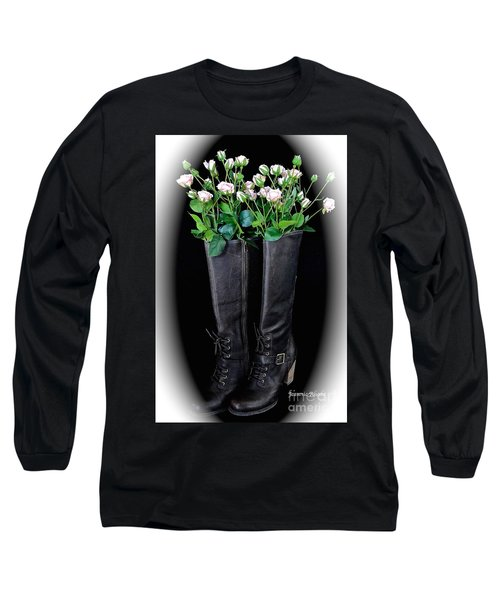 Victorian Black Boots Long Sleeve T-Shirt