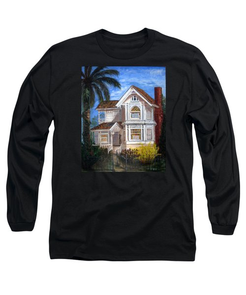 Victorian House Long Sleeve T-Shirt by LaVonne Hand