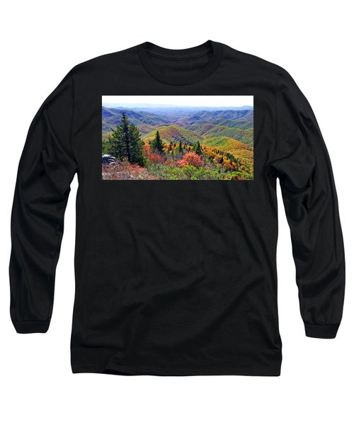 View From Devil's Courthouse Rock Long Sleeve T-Shirt