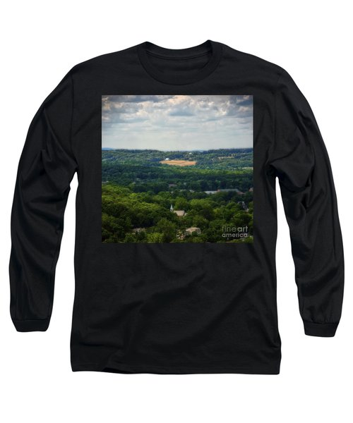 Long Sleeve T-Shirt featuring the photograph View From Goat Hill by Debra Fedchin