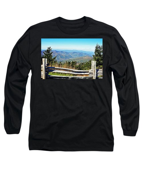 View From Mt. Mitchell Summit Long Sleeve T-Shirt by Lydia Holly
