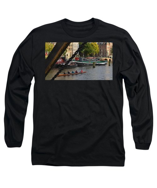 'skinny Bridge' Amsterdam Long Sleeve T-Shirt by Cheryl Miller
