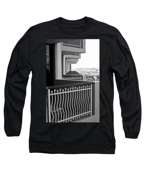 View From The Hotel Balcony Long Sleeve T-Shirt