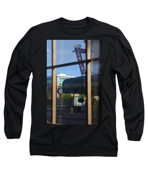 View From The Window Auburn Washington Long Sleeve T-Shirt by Cathy Anderson
