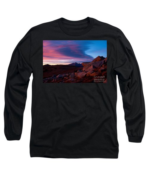 View To Long's Peak Long Sleeve T-Shirt by Steven Reed