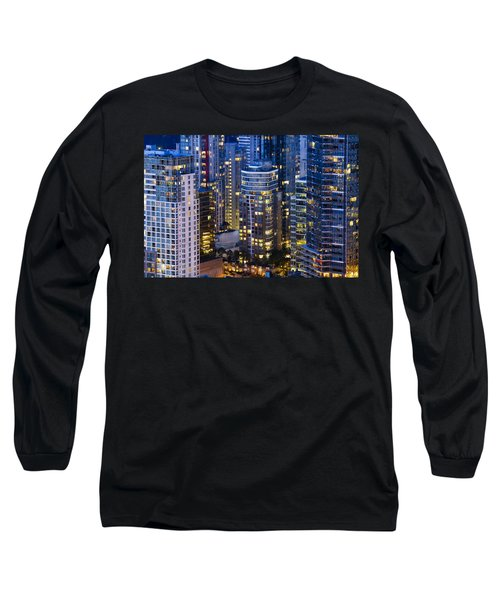 Long Sleeve T-Shirt featuring the photograph View Towards Coal Harbor Vancouver Mdxxvii  by Amyn Nasser