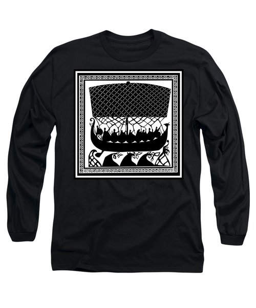 Long Sleeve T-Shirt featuring the digital art Viking Ancient Mariners by Vagabond Folk Art - Virginia Vivier
