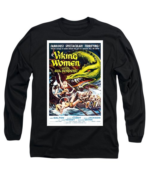 Viking Women And The Sea Serpent Poster Long Sleeve T-Shirt
