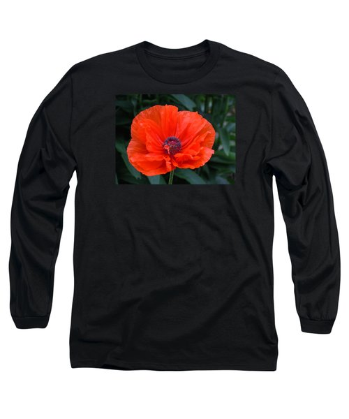 Village Poppy Long Sleeve T-Shirt by Francine Frank