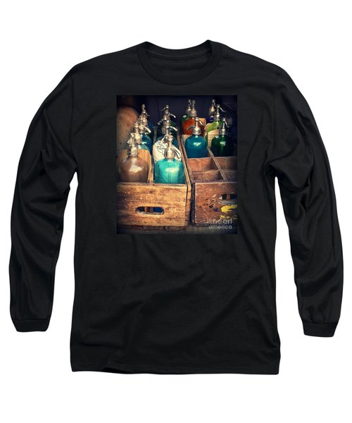 Vintage Antique Seltzer Bottles Long Sleeve T-Shirt