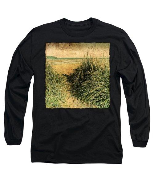 Vintage Beach  Long Sleeve T-Shirt by Roxy Hurtubise