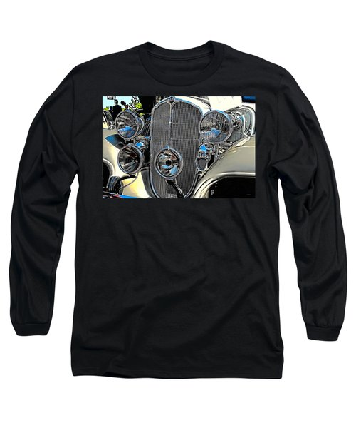 Vintage Car Art Buick Grill And Headlight Hdr Long Sleeve T-Shirt