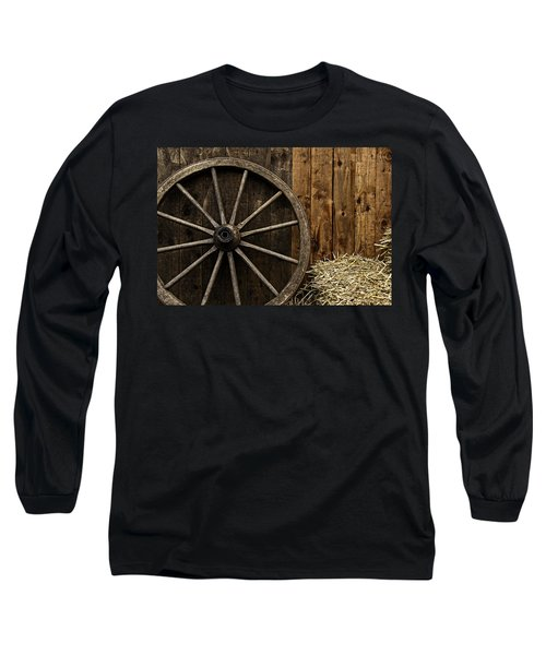 Vintage Carriage Wheel Long Sleeve T-Shirt