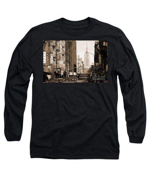 Vintage Chinatown And Empire State Long Sleeve T-Shirt