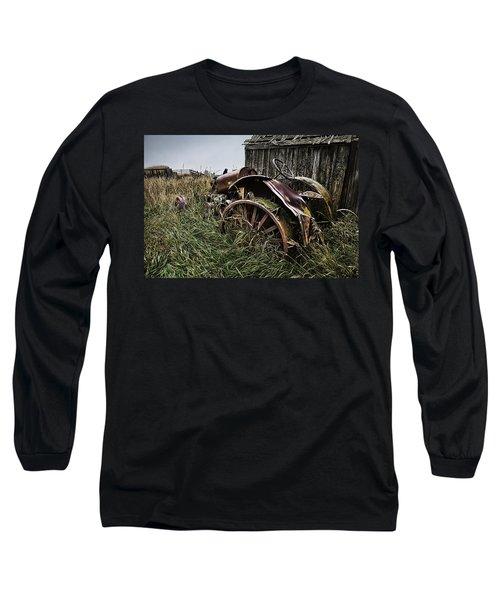 Vintage Farm Tractor Color Long Sleeve T-Shirt
