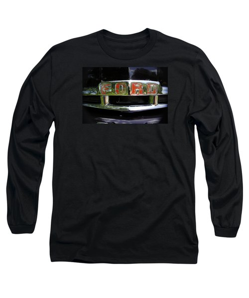 Vintage Ford Long Sleeve T-Shirt by Laurie Perry