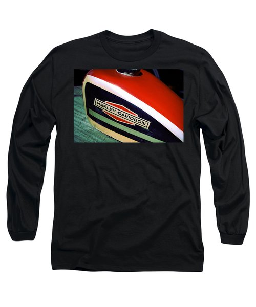 Vintage Harley Davidson Gas Tank Long Sleeve T-Shirt