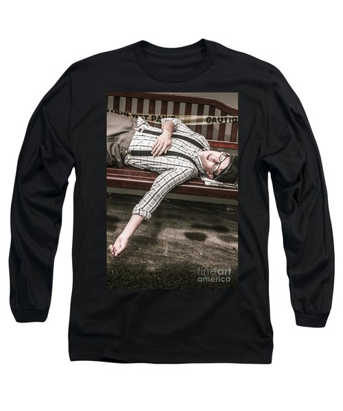 Vintage Homeless Man Long Sleeve T-Shirt